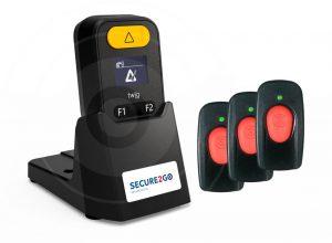 Cube-veiligheid-beschermd-begeleid-wonen gele knop met remote