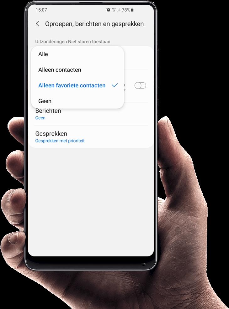 Instellen spraakbericht op Android telefoon