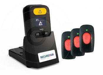 Cube-veiligheid-verslavingszorg gele knop met remote